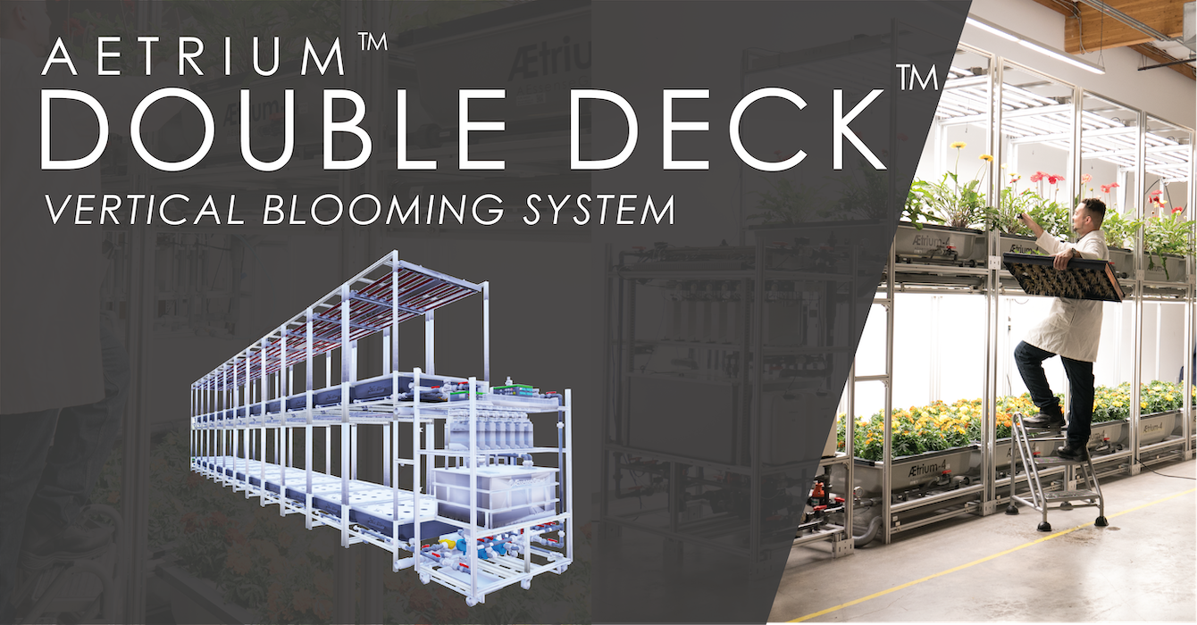 AEtrium-4 Double Deck Hydroponic Bloom System