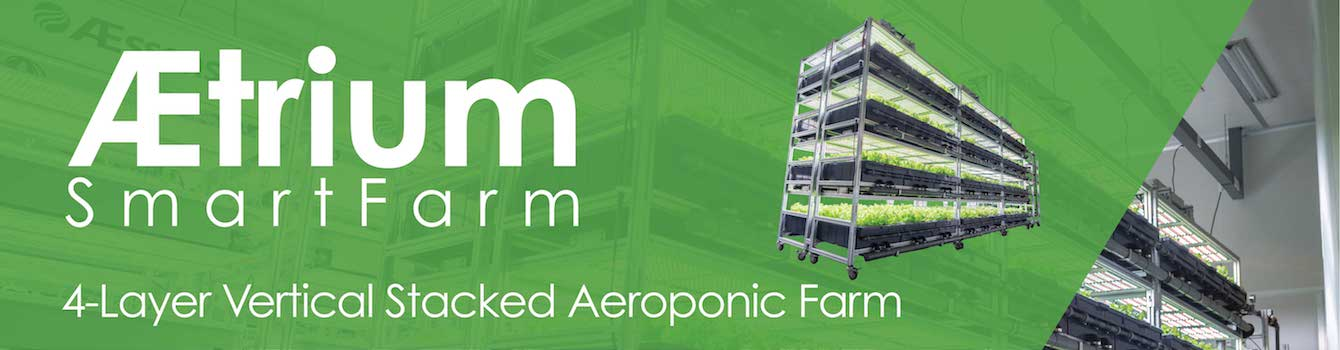 AEtrium SmartFarm 4-Layer Vertical Stacked Aeroponic System