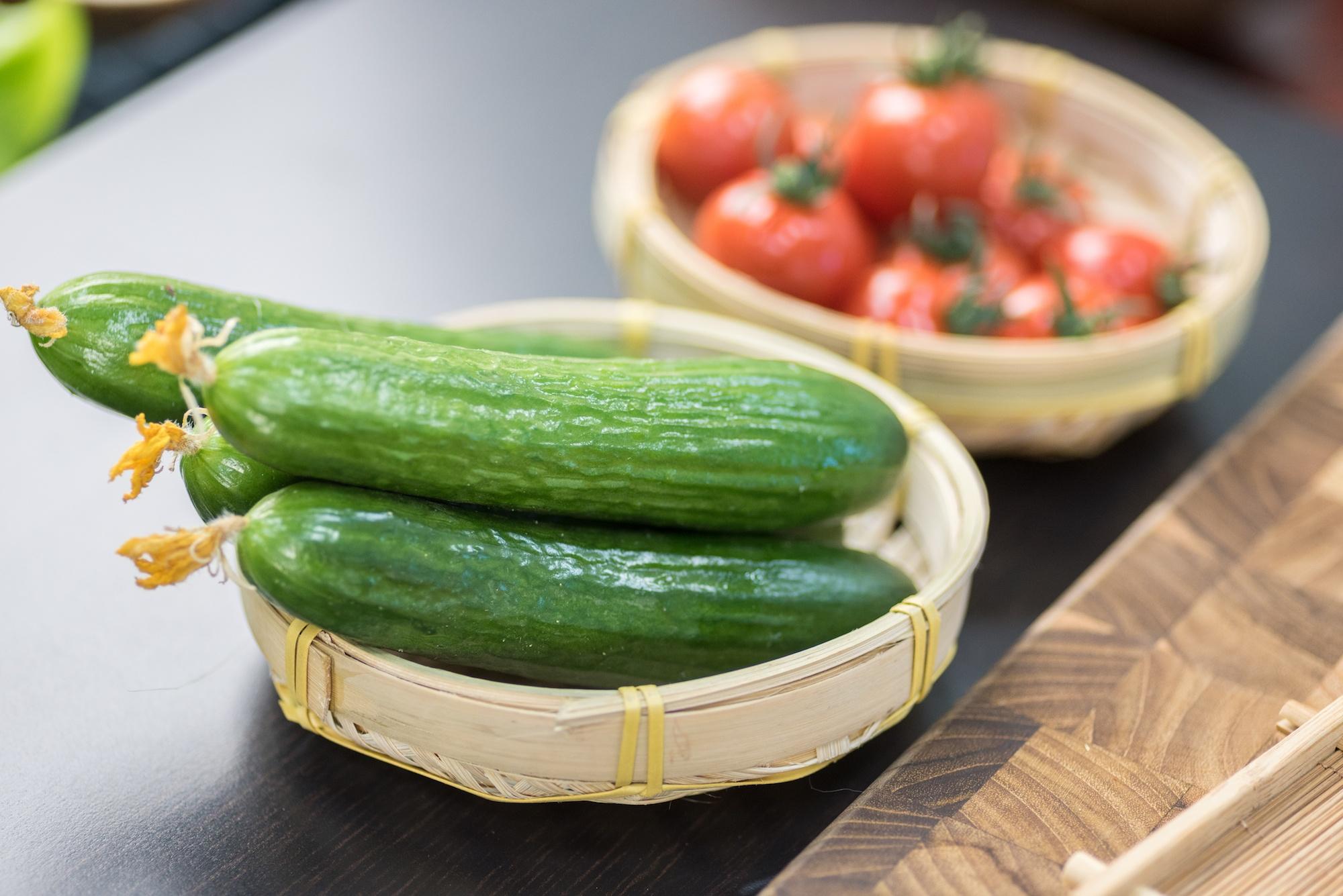 Beautiful Cucumbers And Tomatoes