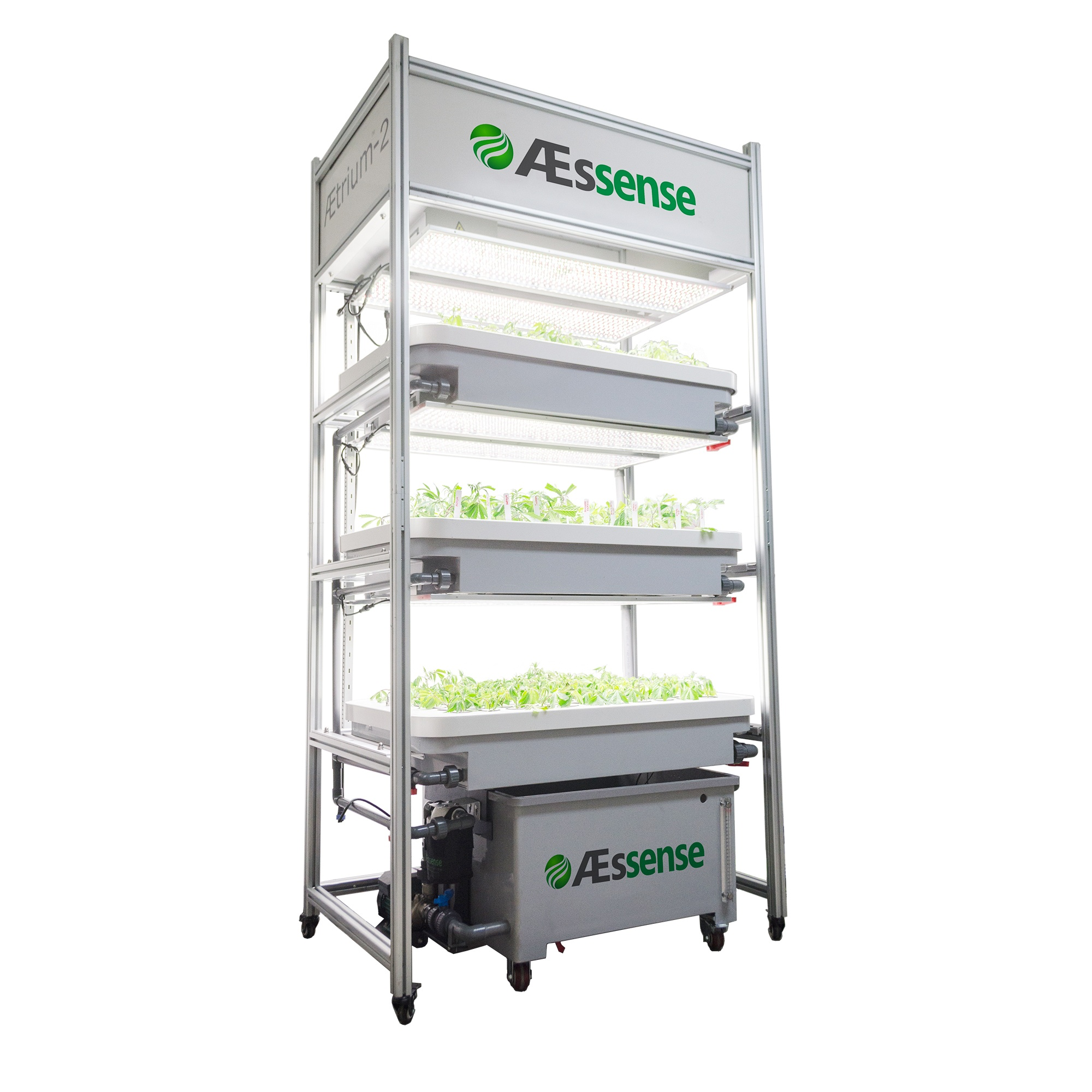 Single Unit AEtrium-2 Vertical Stacked 3 Level Aeroponic Growth Environment